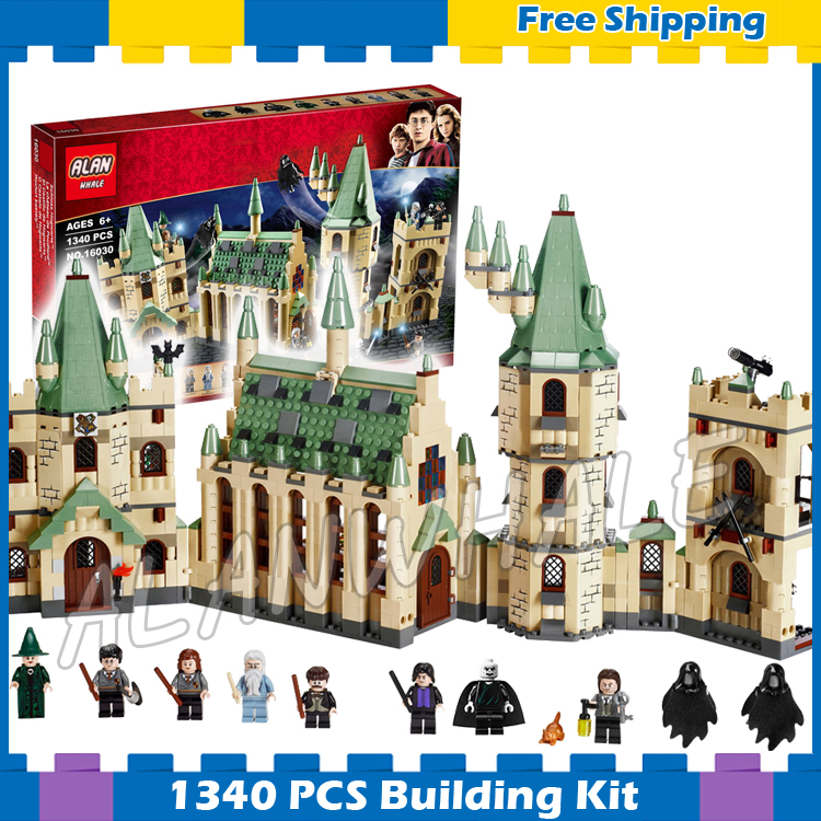 1340pcs Magic Hogwarts Castles Gryffindor School 16030 Model Building Blocks Assemble Gifts Sets Movie Compatible With Lego