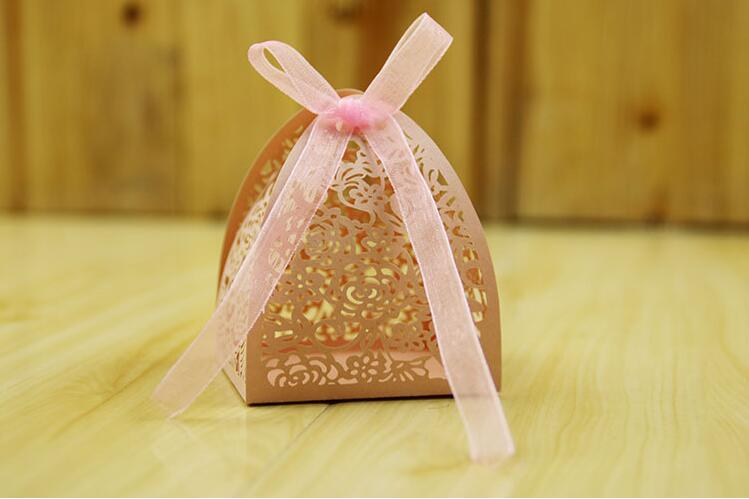 50pcs Laser rose candy boxes decoration flower box lovely paper ...