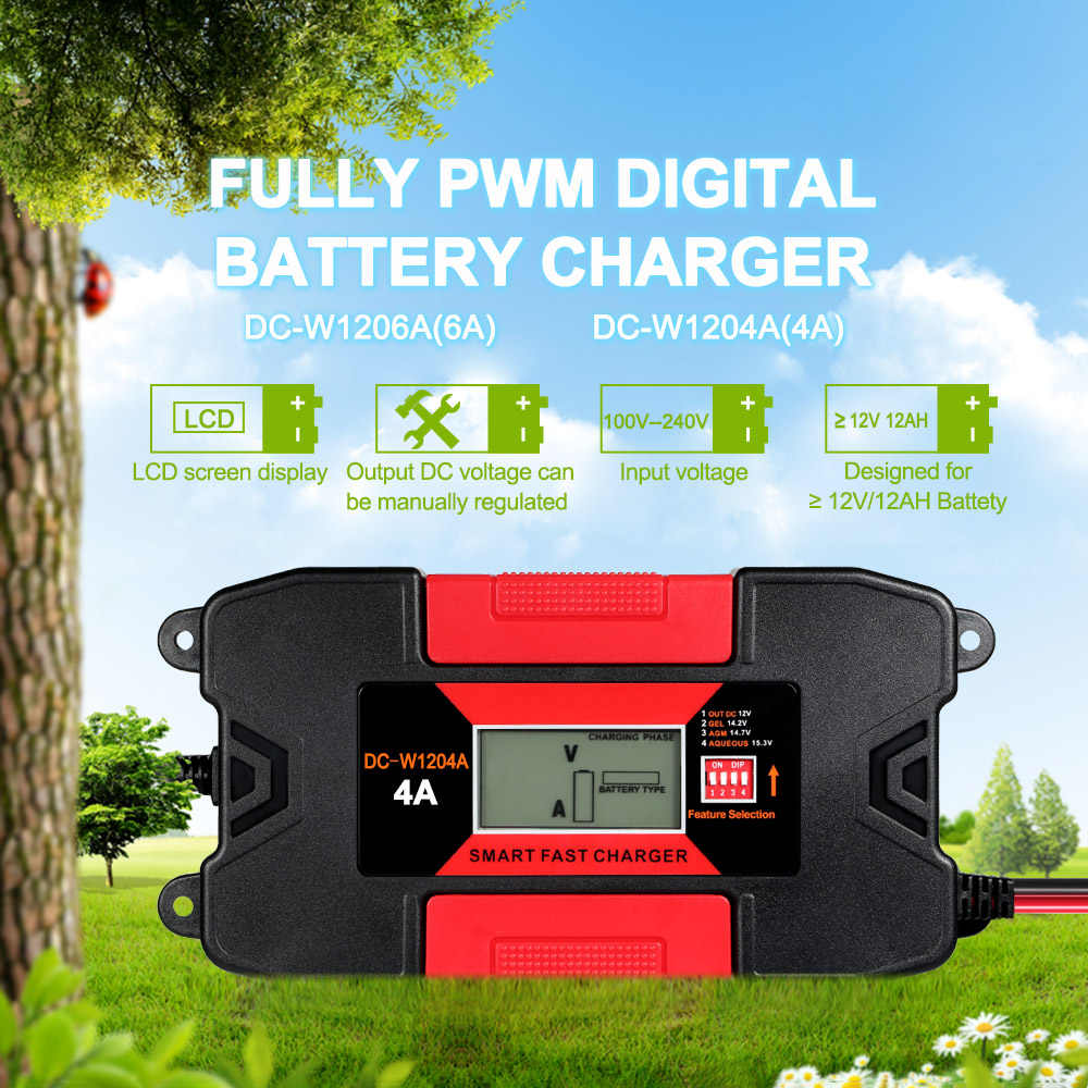 Detail Feedback Questions About Car Motorcycle Battery Charger 12v Voltage Regulated Full Automatic 110v 220v To 4a 6a Fast Power Charging