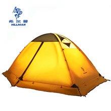 هيلمان أربعة الموسم مزدوجة طبقة الألومنيوم أقطاب خفيفة 2 شخص استخدام تنفس التخييم خيمة Barraca مع تنورة الثلوج