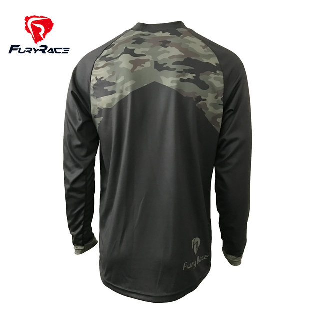 Online Shop Camouflage Mountain Bike Shirts Cycling Maillot Mens MTB ... c61433e48