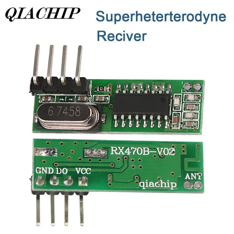 QIACHIP 433mhz DC 5V Superheterodyne RF Receiver Module 433 mhz For ASK / UHF Arduino Uno Remote Control Light LED DIY Kit DS30