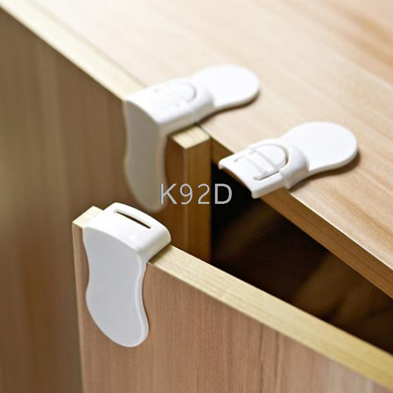 Baby Safety Care Protection Drawer Lock Cabinet Door Right Angle Corner Lock Children Security Tools 4PCS/SET J05