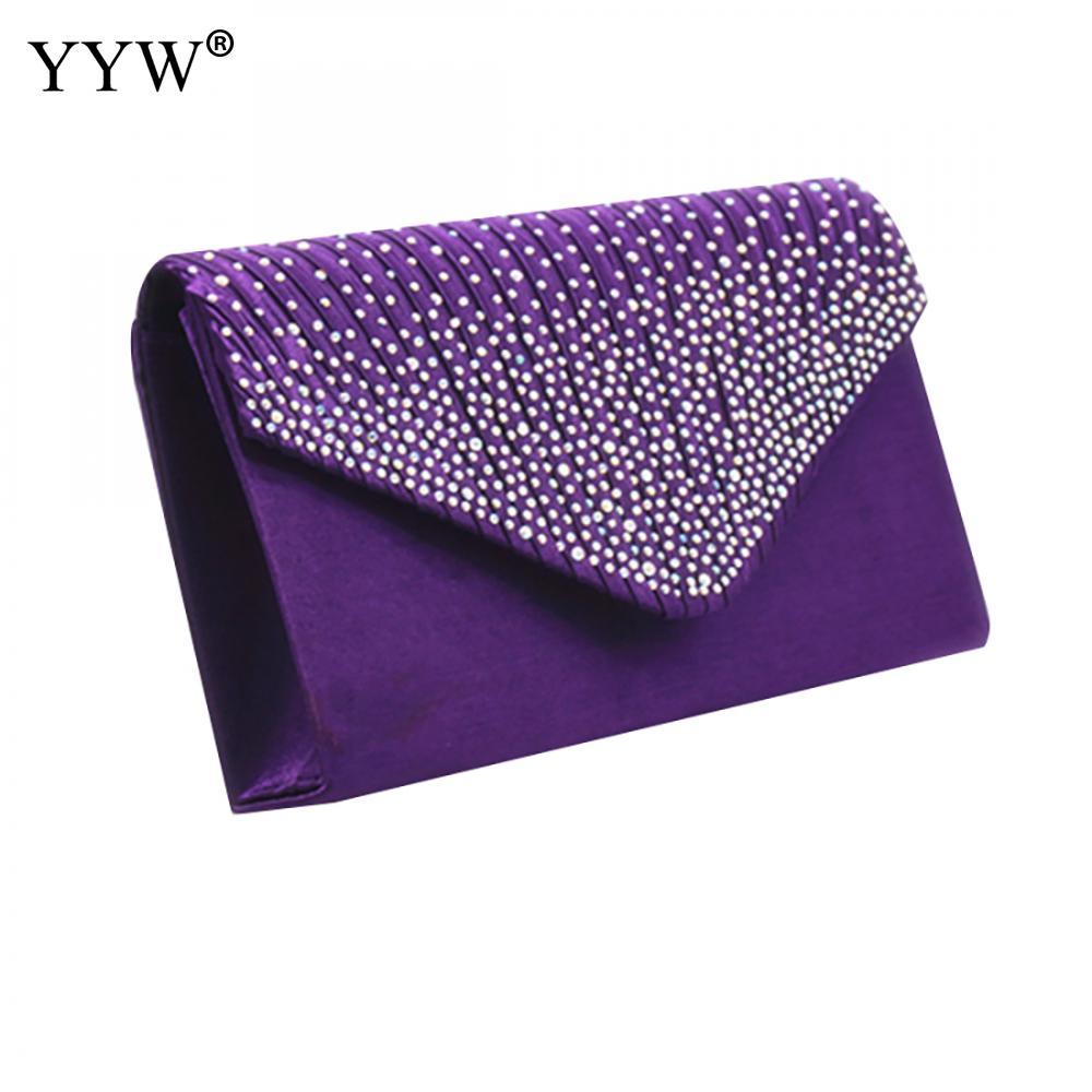 Purple Women Wedding Clutch Luxury Handbag Women Bags Designer Clutch Female 2019 Yellow Summer Clutches Female Evening Prom Bag