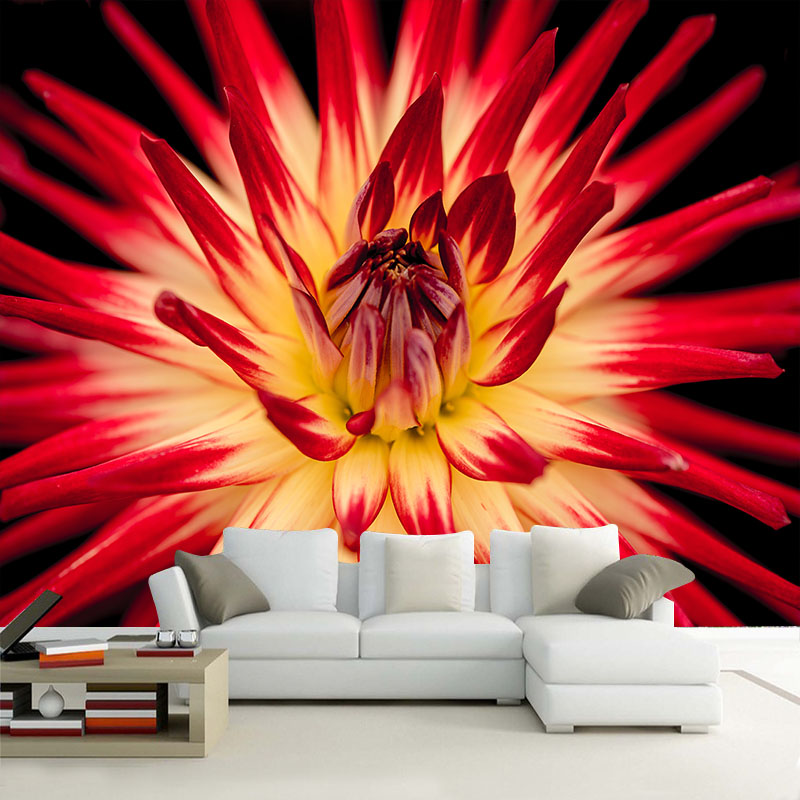 Custom 3D HD Photo Wallpaper Modern Flower Wall Mural Wall Paper Living Room Sofa TV Background Non-woven Fabric Wallpaper Decor living room tv background wallpaper modern black and white flowers 3d home furnishings pure color non woven wallpaper n4