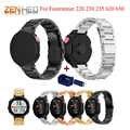 Edelstahl Uhr Band Für Garmin Forerunner 220 230 235 630 620 735XT Strap Klassische Smart Uhr Armband mit Einstellen werkzeug