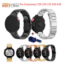 In Acciaio Inox Watch Band Per Garmin Forerunner 220 230 235 630 620 735XT Strap Classic Intelligente Braccialetto di Vigilanza con Regolare strumento