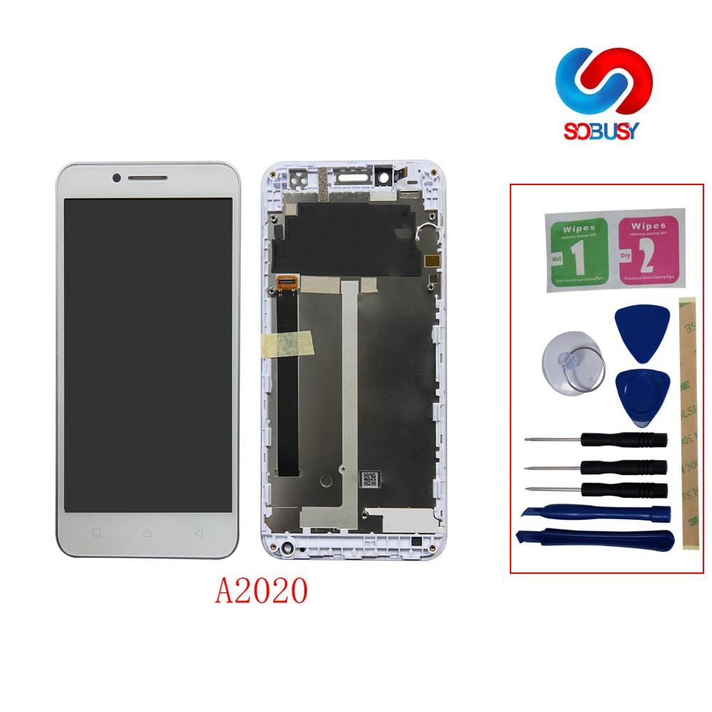 Testado Display LCD Para Lenovo Vibração C A2020 A2020a40 Painel da Tela de Toque LCD monitor tela Substituição Digitador Assembléia Pantalla