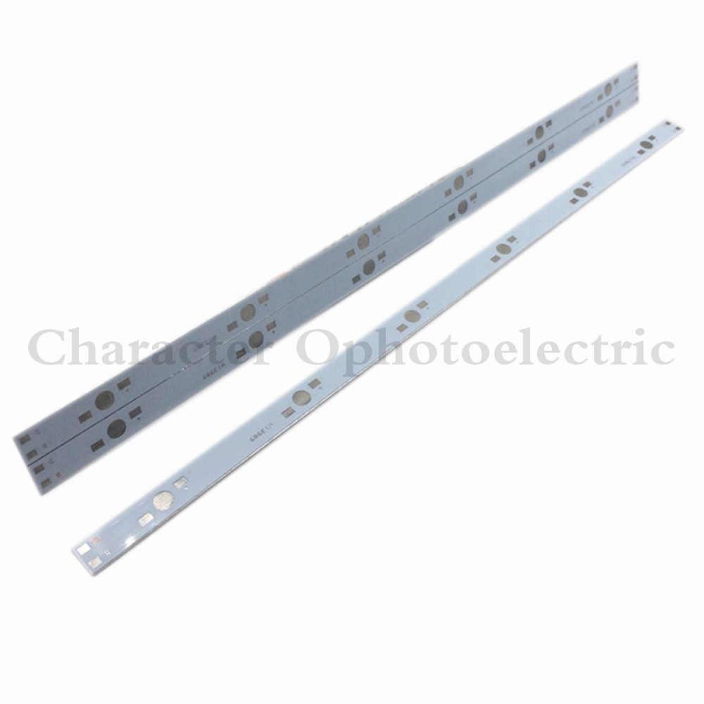 10 шт. 30 см x 1 см Алюминиевый pcb монтажная плата для 6x1 Вт, 3 Вт, 5 Вт Светодиодный в серии