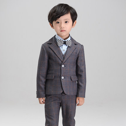 (Jackets+Vest+Pants+Tie+Shirt)Baby kids boys children blazers suits boys suits for weddings formal wedding suit flower boy dress