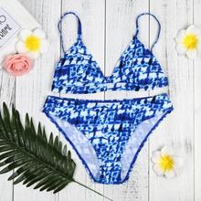 Enchanting Women Bikini Set Swimwear Push-Up Padded Print Bra Swimsuit Beachwear Women's Swimming Suit Bather Swimwear Biquini