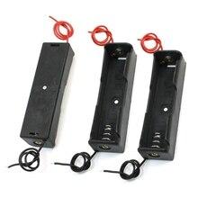 3x Black Plastic 3.7V18650x1 Batteries Battery Holder Case