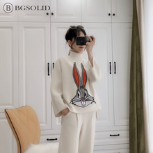 BGSOLID Knit Double Twill Tweed Set Female Student Loose Pattern Fashion Set and  two piece set костюм женский цена