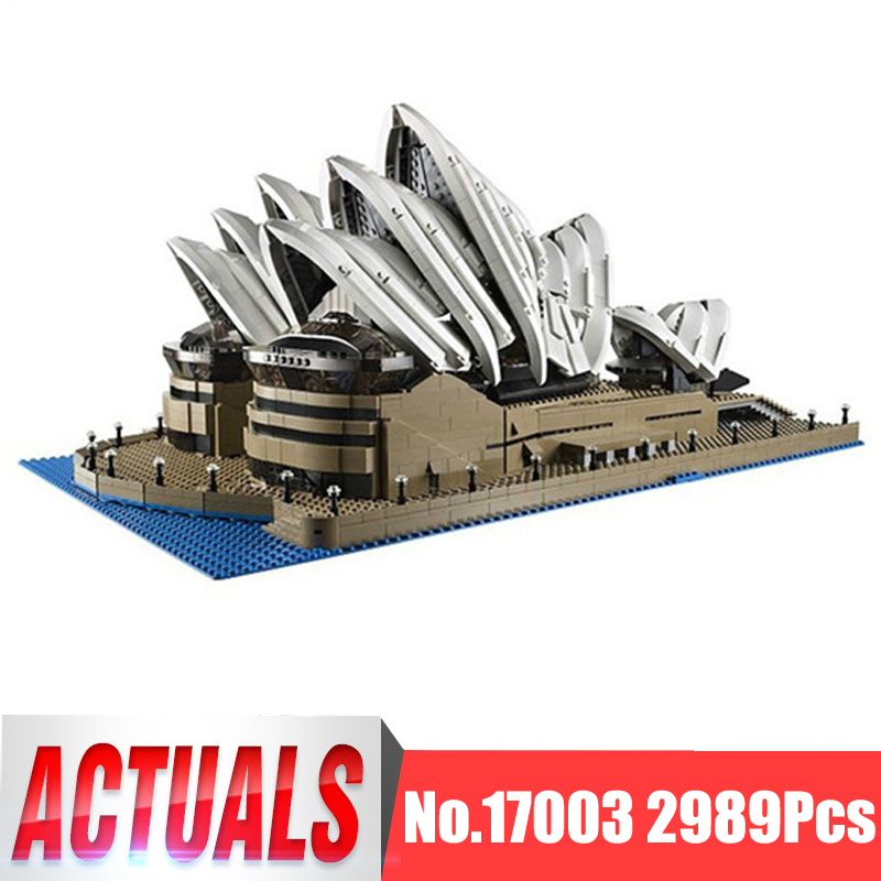 Lepin City Street Figures 17003 2989Pcs Sydney Opera House Model Building Kits Blocks Bricks Kid Toys Gift Compatible With 10234 compatible lepin city mini street view building blocks chinatown satin silk store with saleman figures toys for children gift