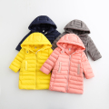 Casual Hooded Collar 2016 Winter Autumn Kids Solid Zipper Clothes Baby Girls Warm Thickened Outerwear Children Clothing 6pcs/LOT