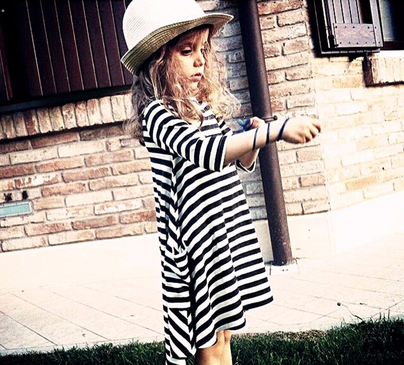 HTB1d2tNLXXXXXcTXFXXq6xXFXXX1 Mommy and me family matching mother daughter dresses clothes striped mom dress kids child outfits mum big sister baby girl