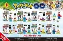 SL 8943 Pokemon Go Pikachu/Zenigame/Charmander/Bulbasaur Bricks Minifigures Building Block Toys Compatible with Legoe