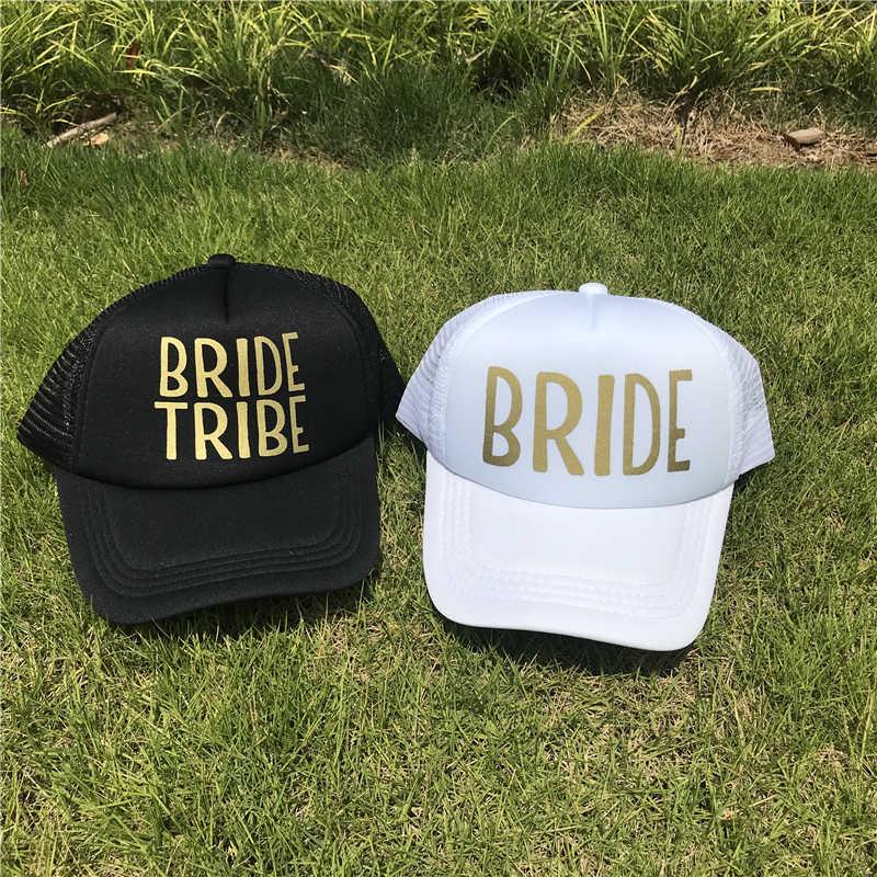 73e171ba7 TEAM BRIDE TRIBE Woman Snapback Caps Hip Hop Branded Baseball Hats Bone  Mesh Wedding Party Man Beach Gold Print Casquette