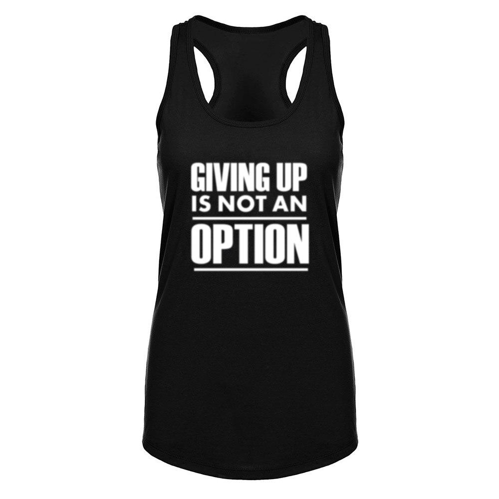 Para dar no es una opción Fitness entrenamiento Racerback Tank Tops