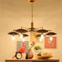 Современные подвесные светильники скандинавские светодиодные лампы рождественские украшения для домашнего освещения деревянные лампы дл