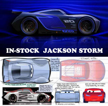 IN-STOCK Disney PIXAR CARS 3 LIGHTNING McQUEEN JACKSON STORM Anime  Diecast Metal Alloy Car Models  Children Cartoon Toys Gifts