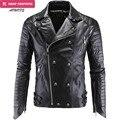 Moda jaquetas de couro do falso casaco de inverno dos homens coreano elegante slim fit casacos homens moto crânio jaqueta de camurça para homens, m-5xl, pa2