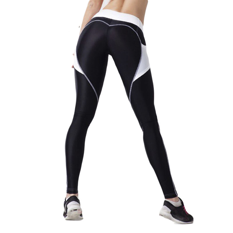 SVOKOR  Sexy Heart Stitching Printing Women's Leggings High Waist Fitness Leggings Polyester Breathable Leginsy Damskie