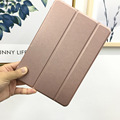 Smart Case For New iPad 9.7 inch 2017 2018 Model Folding Folio Cover Auto Sleep/Wake Up Tablet 9.7 Rose Gold & New Navy