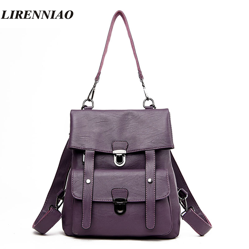 High Quality Pu Leather Backpack Shoulder Bags European And American Style Backpacks Fashion Travel Backpack