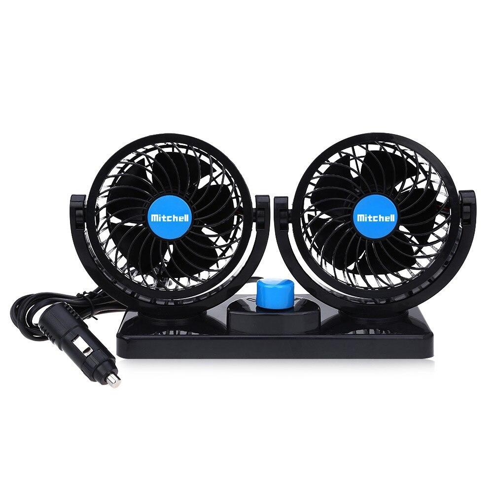 12 V Mini Auto Elettrica Ventilatore A Basso Rumore di Estate Car Air Conditioner 360 Gradi di Rotazione 2 Marce Regolabile Ventilatore Auto Aria Ventola Di Raffreddamento