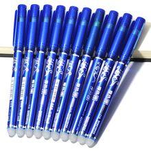10 pçs 0.5mm escrevendo nib haste esferográfica apagável caneta azul preto tinta caneta recarga estudante escola apagar caneta artigos de papelaria material de escritório