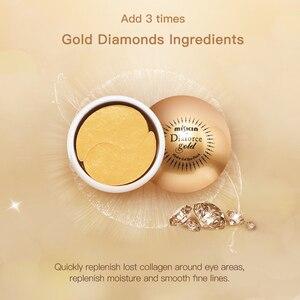 Image 5 - korea dark circle hydrogel eye patch 60pcs hydrolyzed collagen gold crystal gel eye mask eyemask patch for eye under patch eye