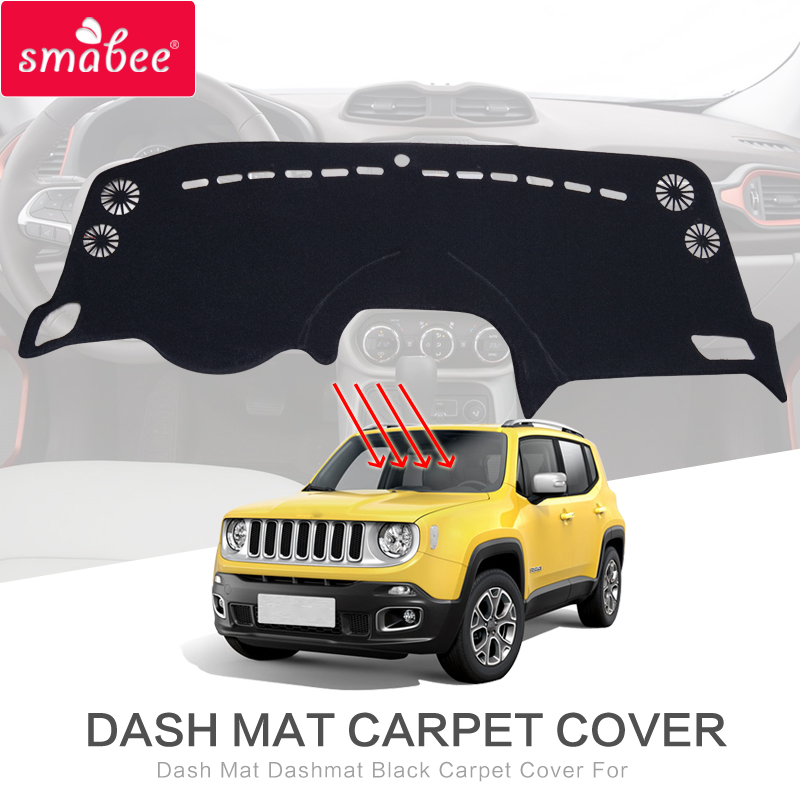 smabee For JEEP RENEGADE Dash Mat Dashmat Black Carpet Cover Insulation mat Sunscreen insulation dashmat original dashboard cover buick skyhawk