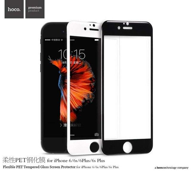 6111c53d1f0 ORIGINAL HOCO Flexible PET Completa Protector de Pantalla de Cristal  Templado para Apple iPhone 6 Plus