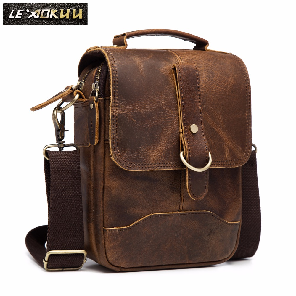 Original Leather Male Design Casual Shoulder Messenger Bag Cowhide Fashion 8