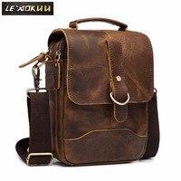 Original Leather Male Design Casual Shoulder messenger bag cowhide Fashion 8 Tote Crossbody Mochila Satchel bag For Men 143 g