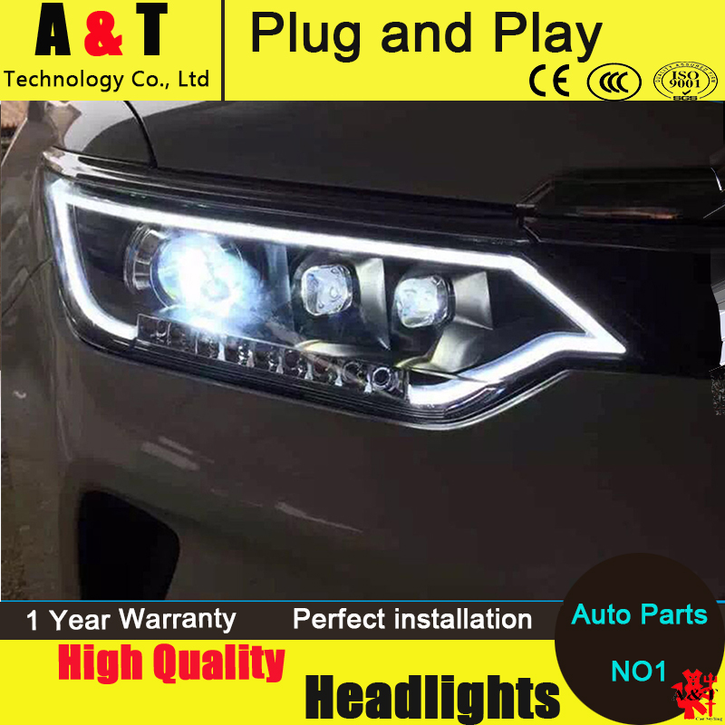 Car Styling LED Head Lamp for Toyota Camry Headlight assembly New Camry V55 led headlight 2014-2016 led drl H7 with hid kit 2pcs car styling head lamp for bmw e84 x1 led headlight assembly 2009 2014 e84 led drl h7 with hid kit 2 pcs