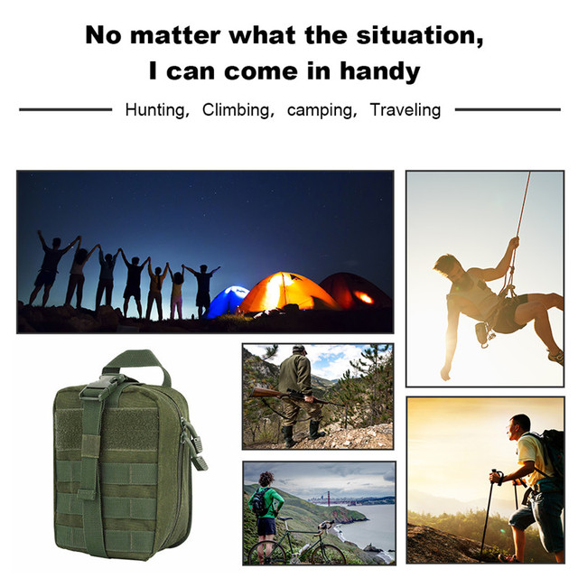 AIRSOFTPEAK Medical First Aid Pouch Tactical MOLLE Portable Outdoor Travel Camping Kit Survive Bag Cover Hunting Emergency Pack 5