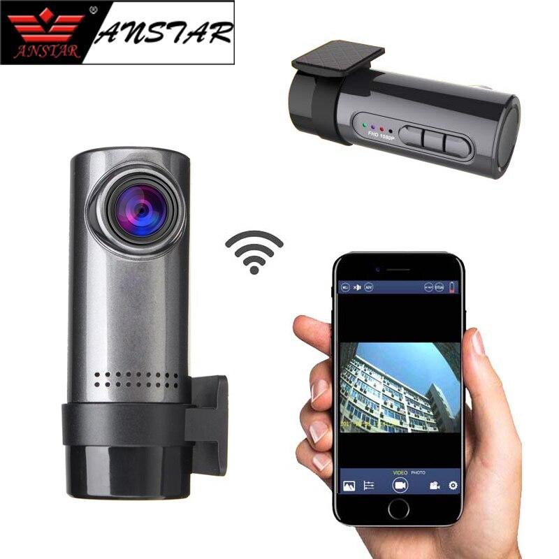 Anstar WiFi Car DVR Camera Night Vision Dash Cam 140 Wide Angle 360 Degree Rotatable Remote