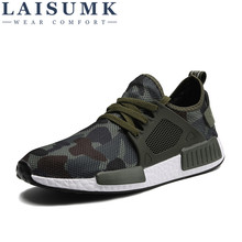 2019 LAISUMK Men Casual Shoes Spring Summer Fashion Man Hombre Army Green Mens Camouflage Footwear