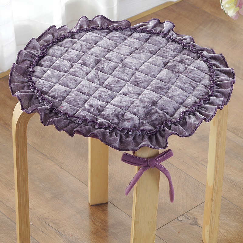 Round Chair Cushion 7 Sizes Tie-on Non-slip Seat Cushion Circular Home Office Kitchen Sit Pad Washable Thicken Chair Cushion