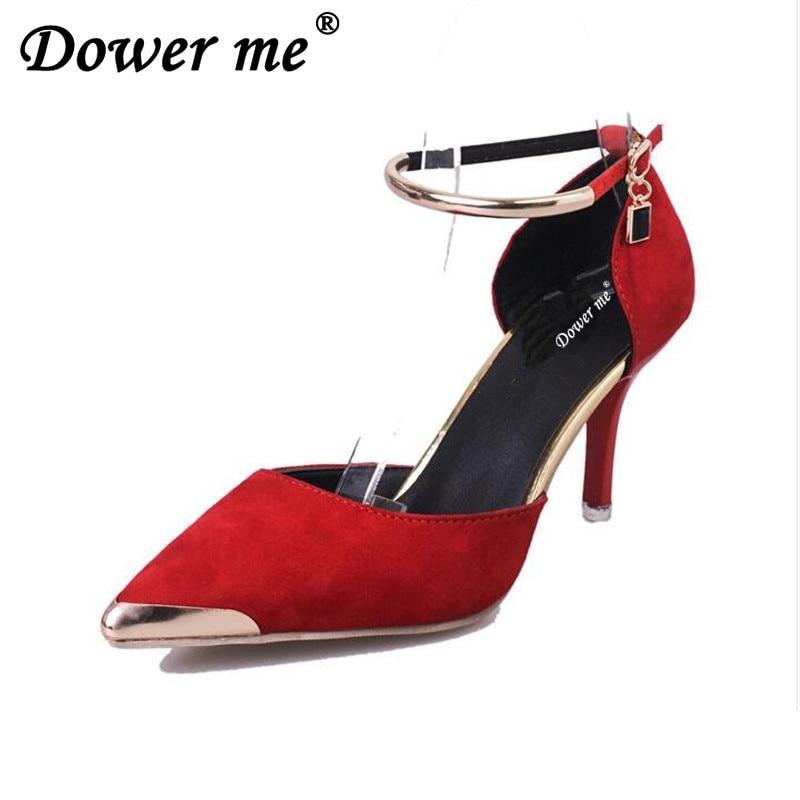 Altos Del Sexy 2017 Boda gery Inferior Rojo Pie Ol Zapatos Talón Suede red Dedo Fino Punta Bombas Black Tacones Zapato Mujeres Señoras qBCvBxwg