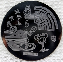 Nail Art Stamping Plate Template Trophy Snake Wave Stamp Image hehe033