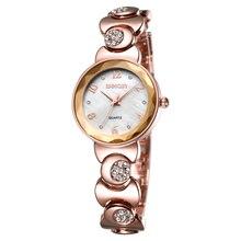 Relojes de moda Mujeres Rhinestone de Oro Rosa de Cuarzo reloj Superior de la Marca de Lujo Vestido de Las Señoras Reloj de Pulsera Relojes Reloj Femenina