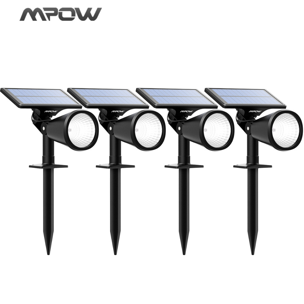 Mpow 4pcs Lawn Lamps Solar Lights 2-in-1 Adjustable Waterproof Solar spotlight Outdoor Landscape For Pathway Garden Lawn Yard oxo good grips 3 in 1 avocado slicer green garden lawn maintenance
