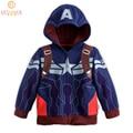 2015 Hot Children Cartoon Hoodies Captain America Autumn & Spring Active Kids Casual Hooded Coats Boys & Girls Outerwear, HC584