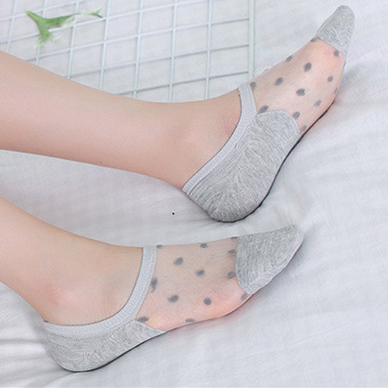 Spring Summer Heap Floral Lace Ankle Socks Invisible Women Sock Low Cut Sock