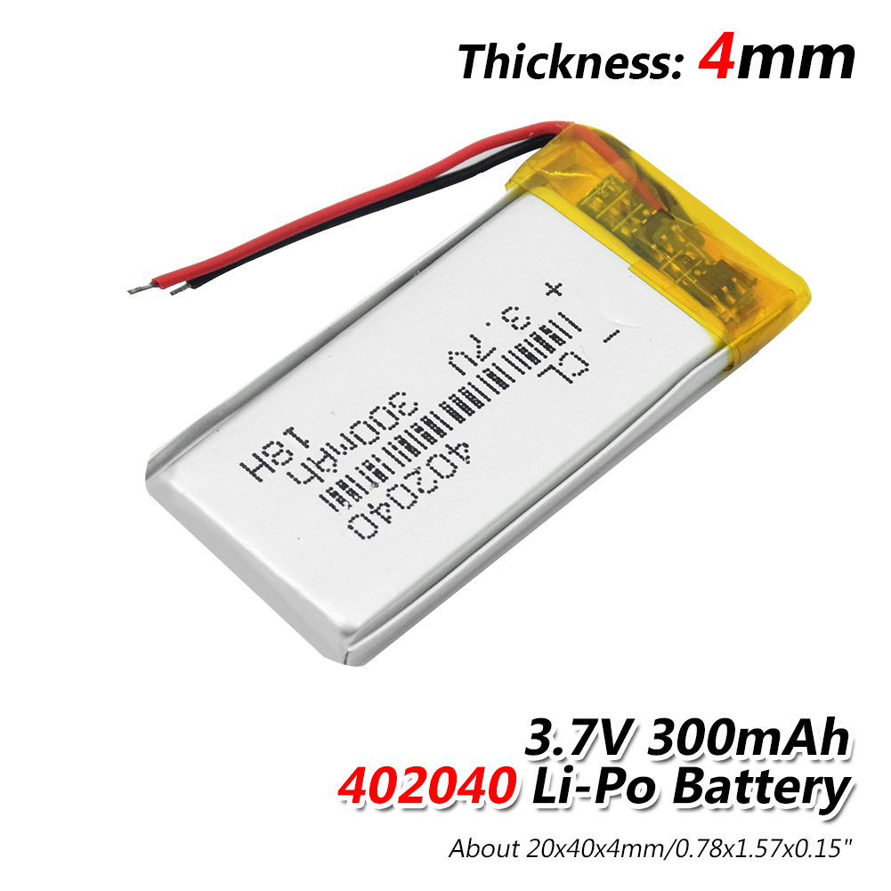 1/2/4 Pcs/lot 300mAh Li-polymer Battery For Bicycle Taillight Smart Watch Game Machine GPS 3.7V 402040 300mAh Lithium Batteries