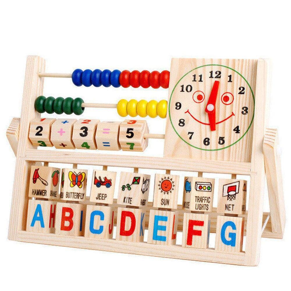 Mooistar2 #5018 NEW Children Baby Kids Learning Figure Developmental Versatile Flap Abacus Wooden Toys W250