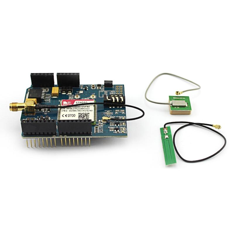 Elecrow Quad Bande GPS GSM GPRS SIM808 Module pour Arduino 2 dans 1 Bouclier SIM808 Développement Conseil Téléphone Parler Haut-Parleur Module DIY